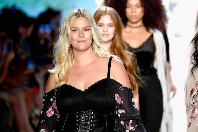 Models walk the runway for the Torrid show during NYFW on Sept. 12.