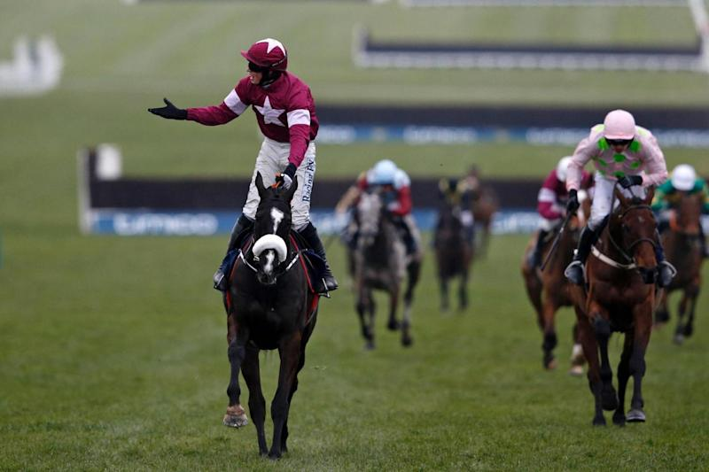 Bryan Cooper enjoys his golden moment aboard Don Cossack in last year's Gold Cup