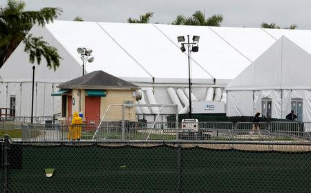 FILE PHOTO: General view of the Homestead Temporary Shelter for Unaccompanied Children, which is the Trump administration's largest shelter for migrant children, in Homestead, Florida, U.S, February 13, 2019.  REUTERS/Joe Skipper