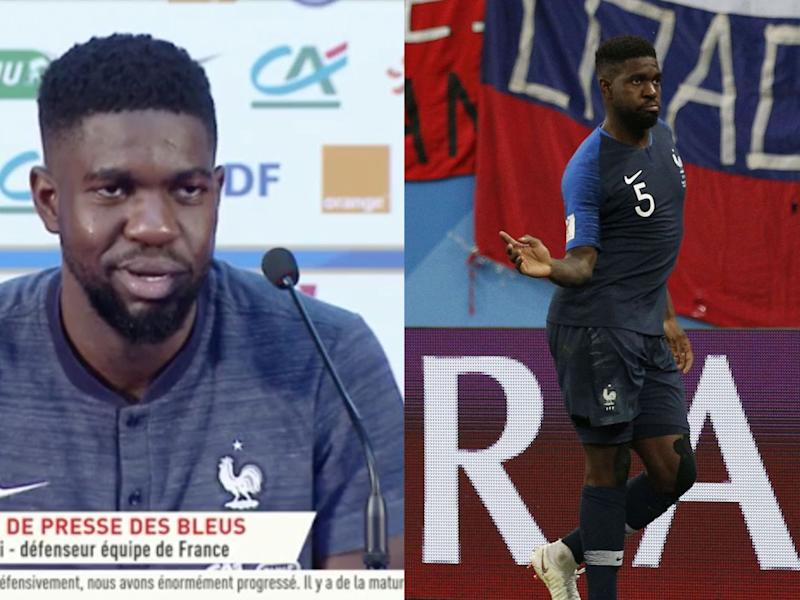 France-Belgique : Samuel Umtiti s'explique (enfin) sur son improbable célébration de but (VIDEO)