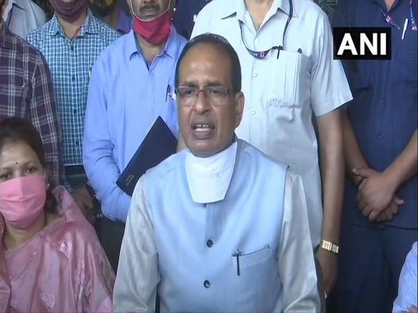 Madhya Pradesh Chief Minister Shivraj Singh Chouhan speaking at a press conference in Bhopal on Saturday.