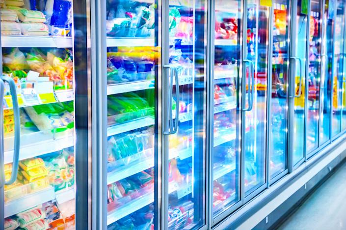 Grocery stores have been stocking up on frozen vegetables as demand surges during the pandemic. (Photo: adisa via Getty Images)