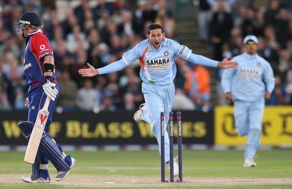Ajit Agarkar was the first Indian to take a wicket off his first ball in T20I cricket