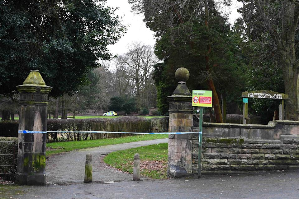 Police cordon off Brackenwood Park and Golf Course.(Pic Andrew Teebay).