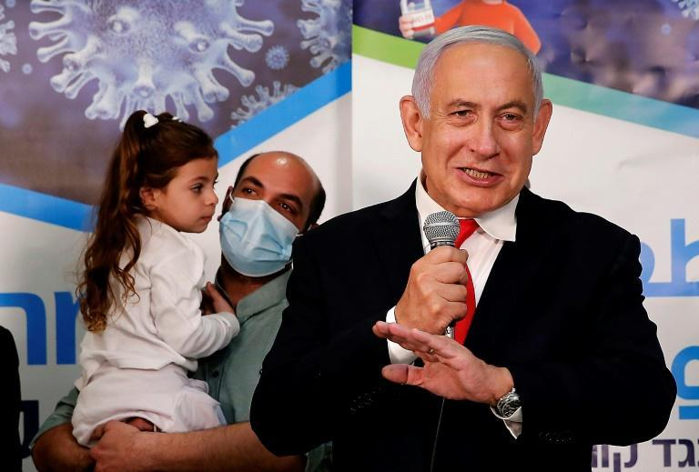 Netanyahu has visited vaccination centres and adopted the phrase 'Vaccine Nation'