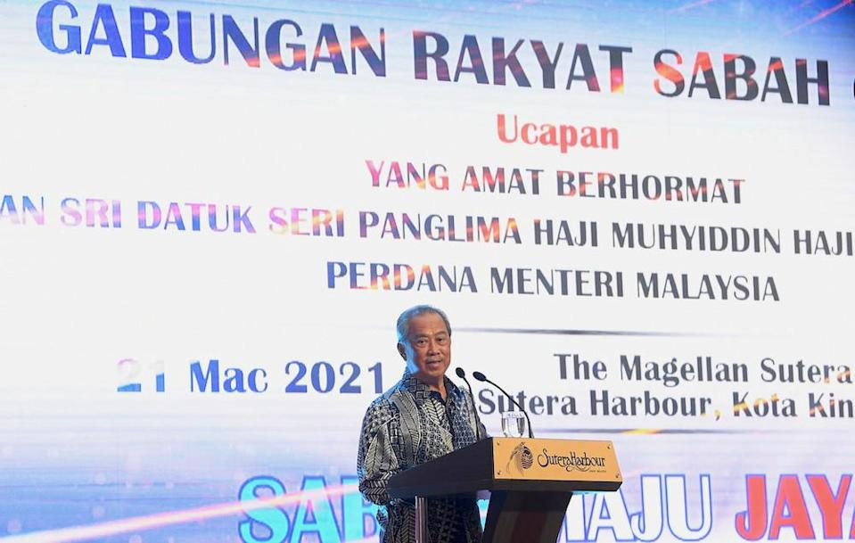 Prime Minister Tan Sri Muhyiddin Yassin is on a two-day working visit to Sabah. — Bernama pic
