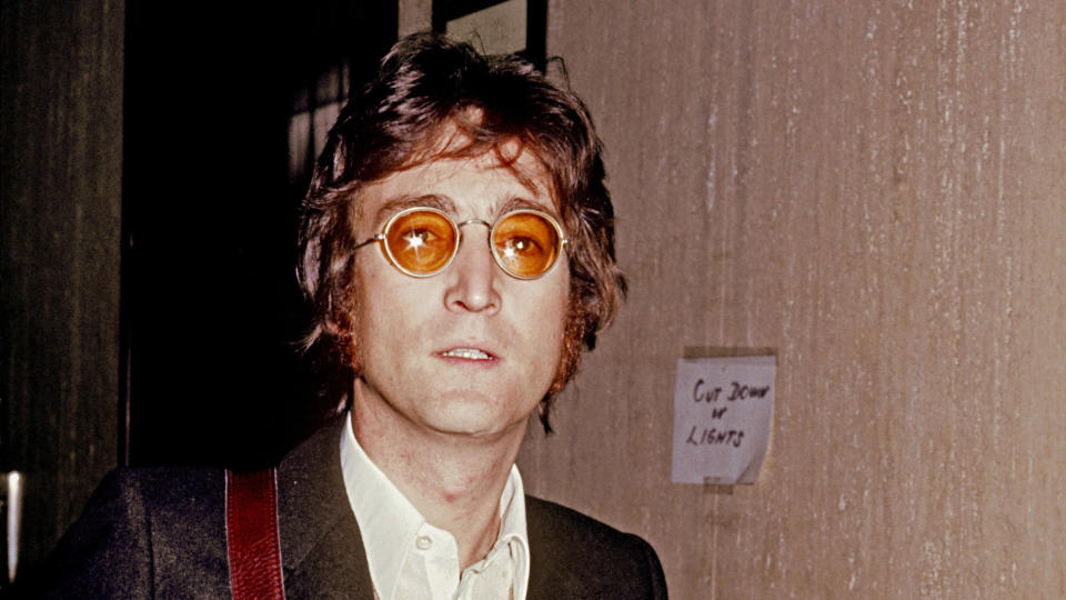 John Lennon received an MBE alongside his Beatles bandmates, but later handed it back. (Vinnie Zuffante/Michael Ochs Archives/Getty Images)
