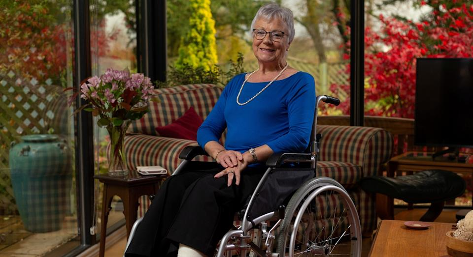 Ritson is hoping to get back to golfing soon, and hopes to be out in her garden as well (SWNS)