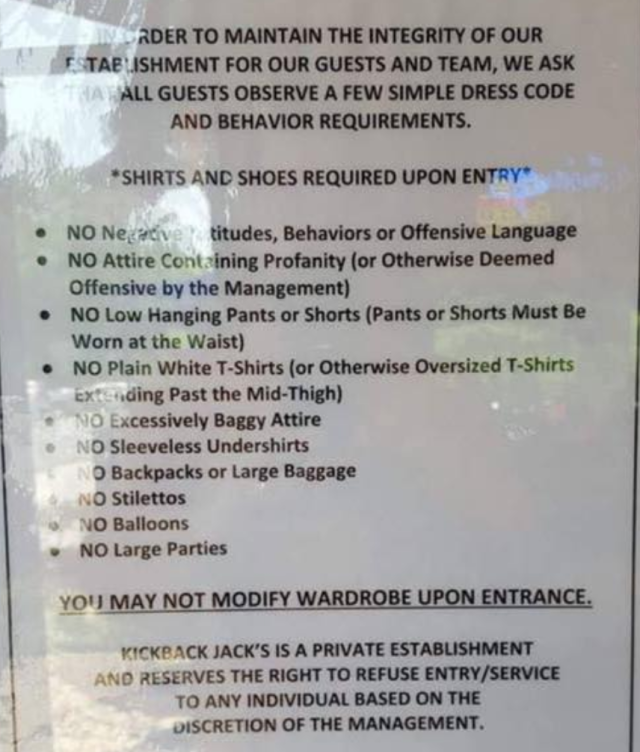 The rules that are causing controversy. (Photo: Courtesy of Brittani Mechele)