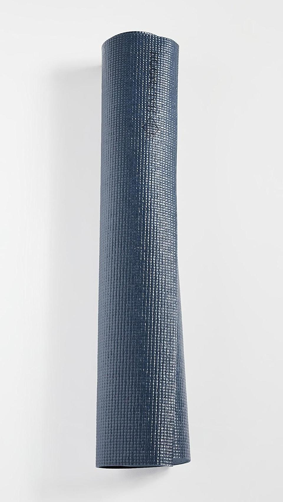 <p>They'll love practicing on this <span>Halfmoon Yoga Essential Studio Yoga Mat</span> ($30).</p>