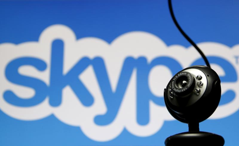 Skype, the popular internet phone and messaging service, has been removed from app stores in China amid a crackdown on cyber content. (Dado Ruvic / Reuters)
