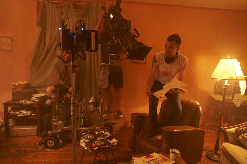 "Jay Baruchel on set of his new film ""Random Acts of Violence."" (Elevation Pictures)"