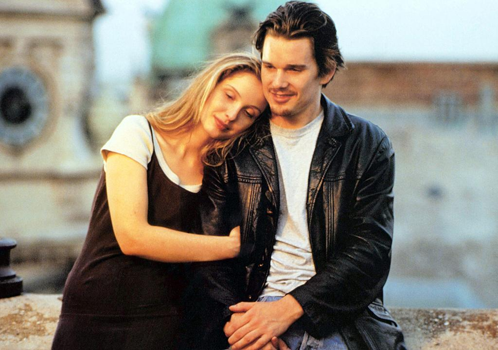 <p>An American man (Ethan Hawke) and a French woman (Julie Delpy) meet on a train and spend the next day and night flirting and falling for each other while walking around Vienna. Rediscover the first installment of Richard Linklater's indelible trilogy. (Photo: Everett) </p>