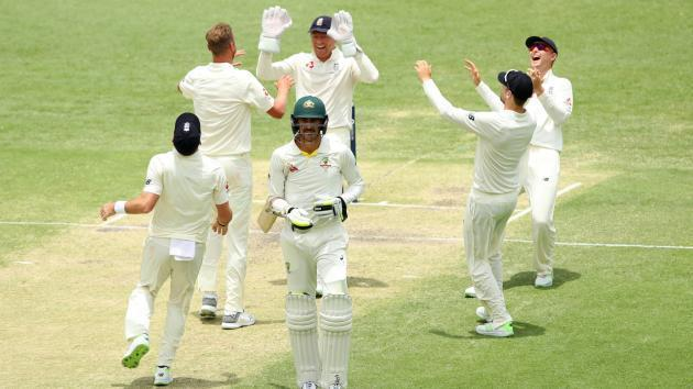 <p>England on top as wickets fall in Brisbane</p>