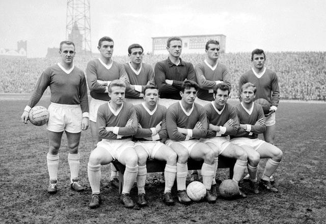 Manchester United from 1961, Nobby Stiles in the front row second from left with Bobby Charlton on the far right