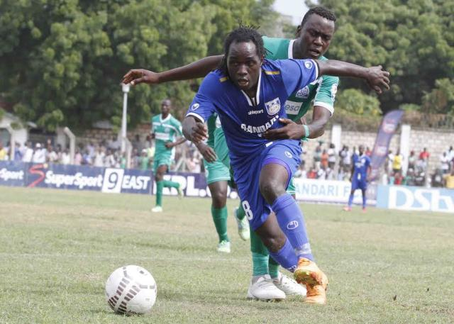 Enock Agwanda and Dan Sserunkuma will be up against their former employer Gor Mahia on Wednesday