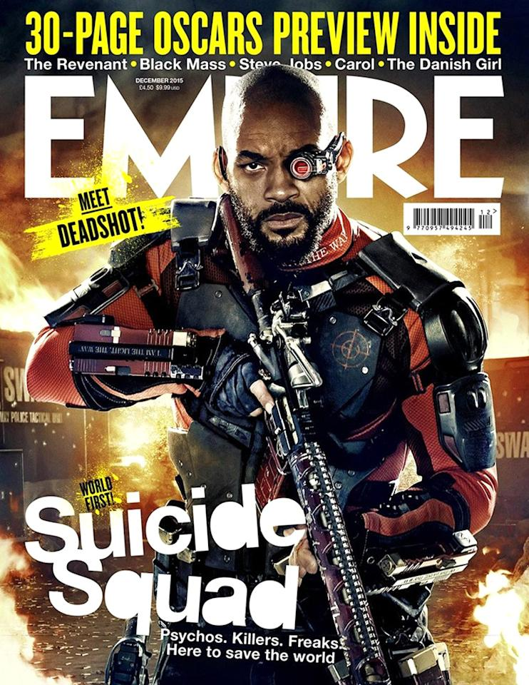 <p>Will Smith as the master assassin on the cover of 'Empire.' (Empire)<br /><br /></p>