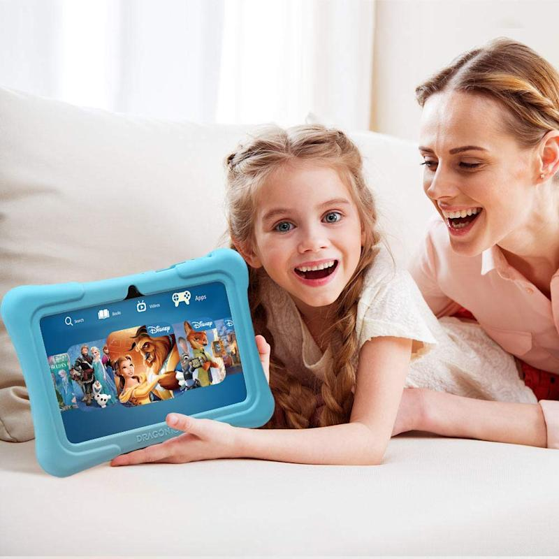 Save $13 on the Dragon Touch Y88X Plus Kids Tablet. (Photo: Amazon)