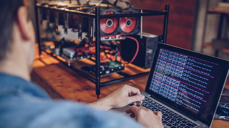 A cryptocurrency mining operation