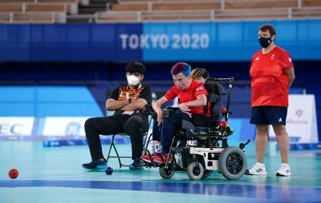 Great Britain's David Smith competes in the Individual – BC1 Gold Medal Match against Malaysia's Chew Wei Lun at the Ariake Gym during day eight of the Tokyo 2020 Paralympic Games in Japan. Picture date: Wednesday September 1, 2021