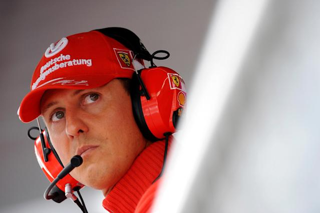 Michael Schumacher a Monza in un'immagine del 2008 (REUTERS/Alessandro Bianchi/File Photo)