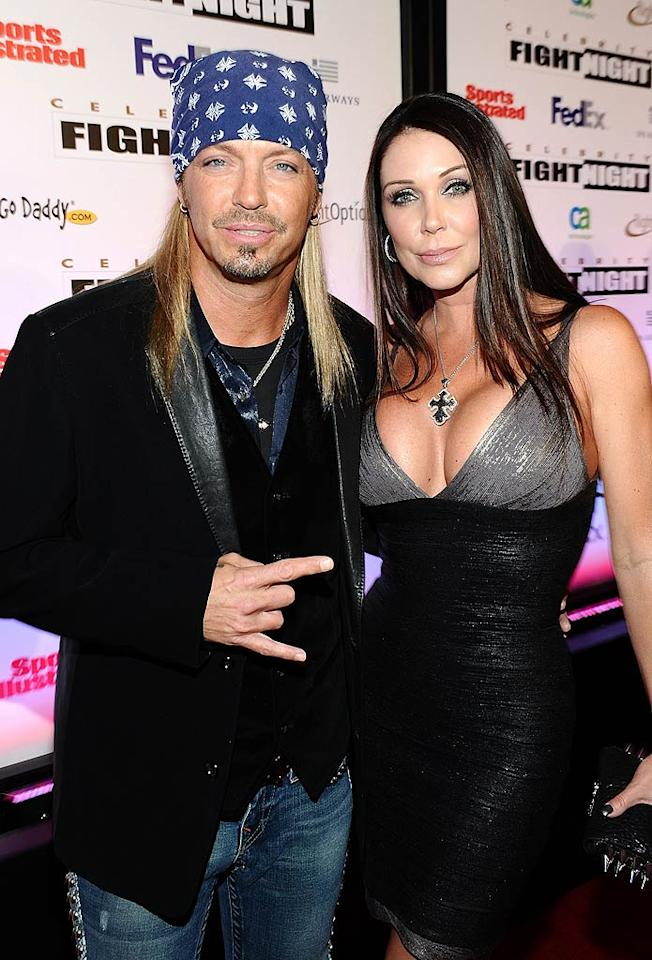 """A healthy looking Bret Michaels, who was hanging loose with his fiancee, Kristi Gibson, at the event had a personal reason for lending his support -- the rocker was treated for his subarachnoid brain hemorrhage at St. Joseph's in Arizona in April 2010. Said the rocker, """"I am thrilled to have the opportunity to rock at Celebrity Fight Night in support of St. Joseph's. St. Joseph's saved my life and I am grateful to be able to attend the charity event that benefits this amazing hospital."""" Michael Buckner/<a href=""""http://www.gettyimages.com/"""" target=""""new"""">GettyImages.com</a> - March 19, 2011"""