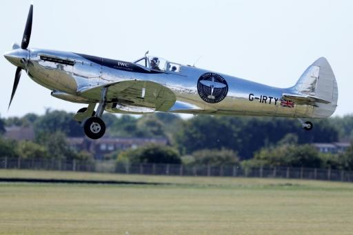 Two British aviators, Matt Jones and Steve Brooks, are taking turns to fly the Silver Spitfire on its four-month,�43,500-kilometre adventure westwards around the globe -- the first time a Spitfire will ever have circumnavigated the planet