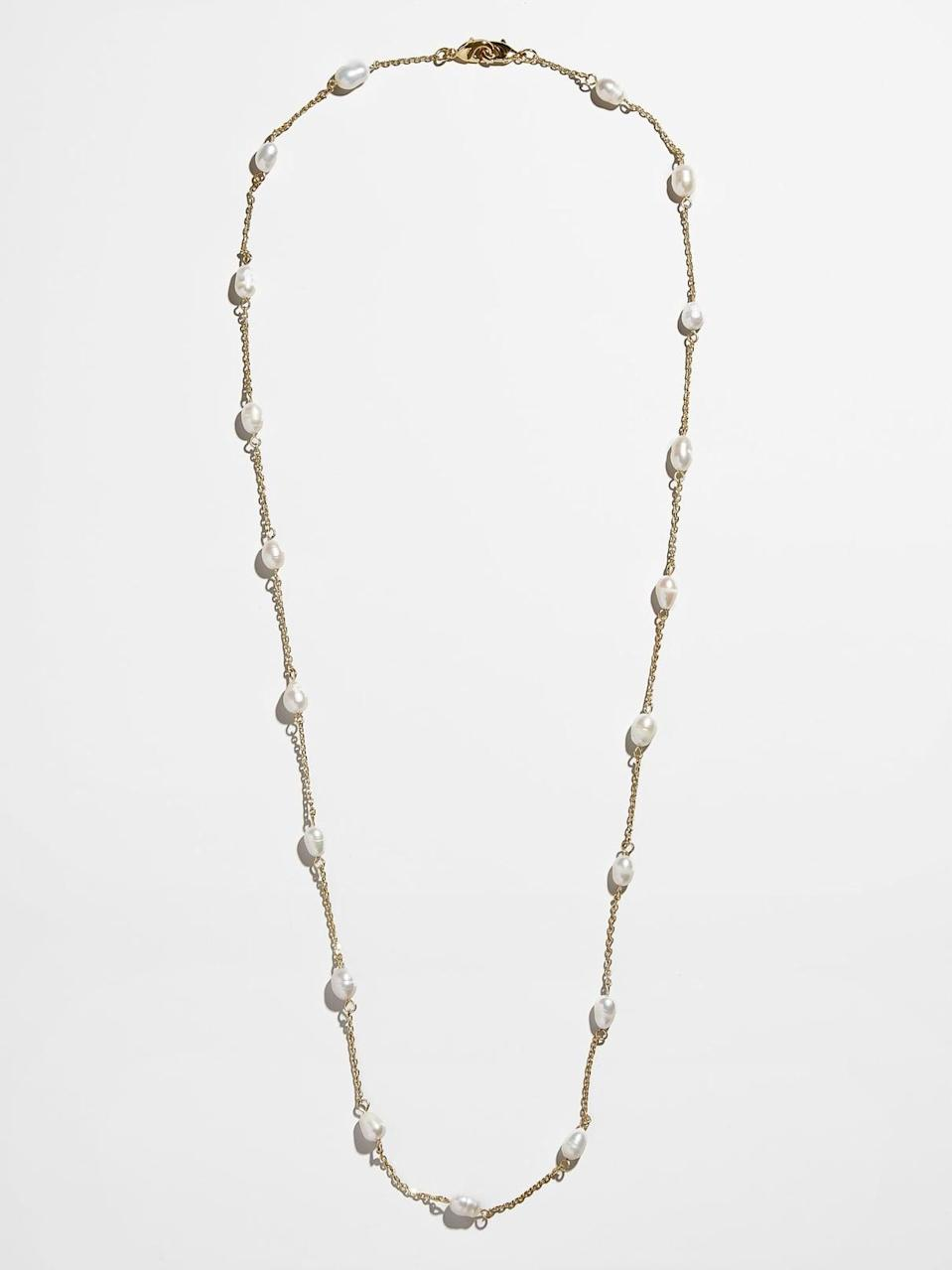 <p>Moira loves her pearls and the <span>Convertible Mask Chain</span> ($30) would pair nicely with the previous mask set on this list. </p>