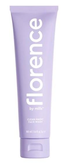 "<p>The fresh, melon-scented <a href=""https://www.popsugar.com/buy/Florence-Mills-Clean-Magic-Face-Wash-494651?p_name=Florence%20by%20Mills%20Clean%20Magic%20Face%20Wash&retailer=ulta.com&pid=494651&price=12&evar1=bella%3Aus&evar9=46681955&evar98=https%3A%2F%2Fwww.popsugar.com%2Fphoto-gallery%2F46681955%2Fimage%2F46681956%2FFlorence-by-Mills-Clean-Magic-Face-Wash&list1=beauty%20products%2Cbeauty%20review%2Cmillie%20bobby%20brown&prop13=api&pdata=1"" rel=""nofollow"" data-shoppable-link=""1"" target=""_blank"" class=""ga-track"" data-ga-category=""Related"" data-ga-label=""https://www.ulta.com/clean-magic-face-wash?productId=pimprod2009325"" data-ga-action=""In-Line Links"">Florence by Mills Clean Magic Face Wash</a> ($12) felt more like a moisturizer than it did a cleanser. As I splashed more water onto my skin, the cream melted into a milk that barely foamed up, but swept away the budge-proof eyeliner, liquid foundation, and brow gel I had on my face. Afterward, I noticed my skin was silky soft, and not stripped of moisture.</p>"