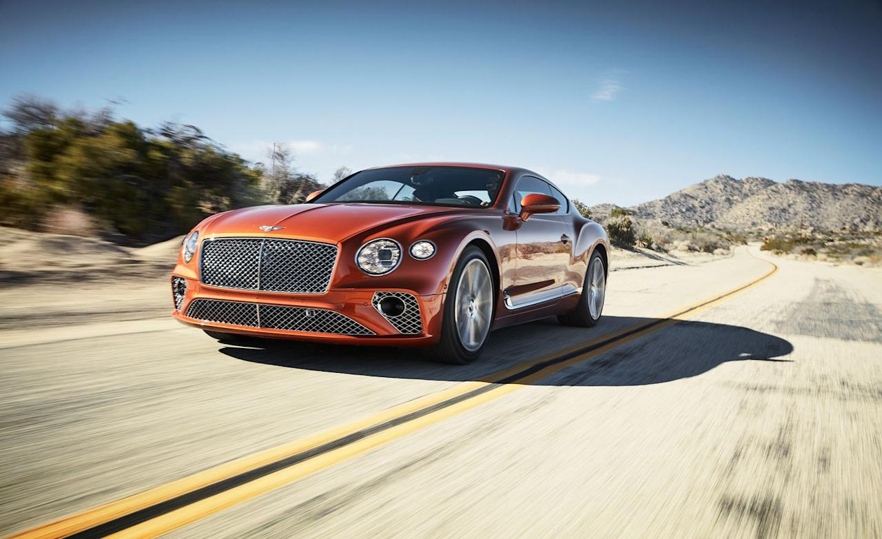 <p>Two hundred and seven miles per hour, to be exact. That's where Bentley says the all-new Continental GT tops out. We prefer to verify such figures, but places to hit velocities so lofty are in short supply, so we'll have to take the company's word for it.</p>