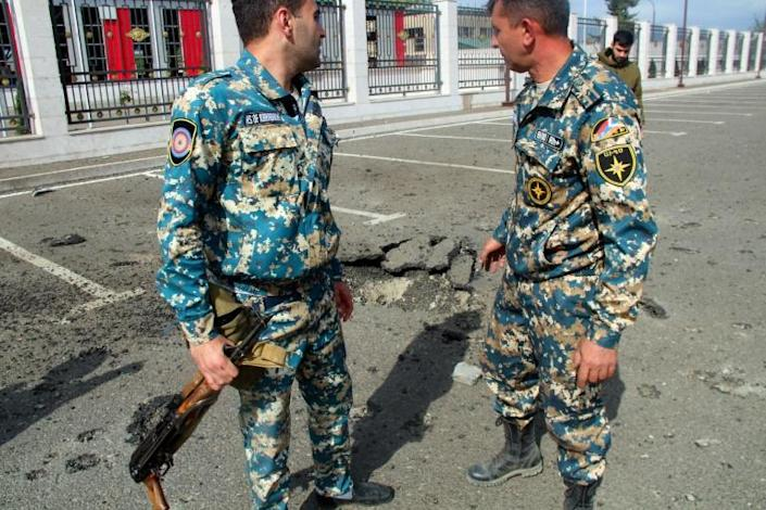 Karabakh's Emergencies Ministry said its offices were damaged by Azeri shelling