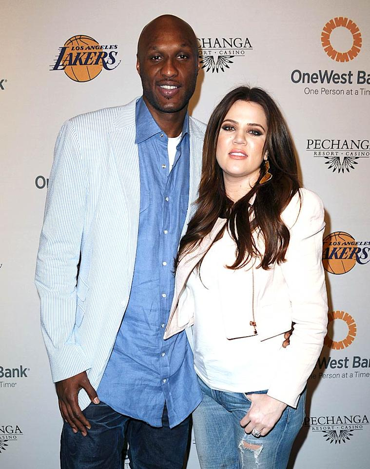 "Kobe's teammate Lamar Odom brought his missus, Khloe Kardashian, and told reporters on the red carpet that he and Khloe were hoping to add to their family soon. ""Practice makes perfect,"" Lamar told E! News. ""I'm a great shot at basketball, so hopefully it will be soon!"" Jason LaVeris/<a href=""http://www.filmmagic.com/"" target=""new"">FilmMagic.com</a> - April 3, 2011"