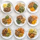 """<p>All of the dinners you receive from <a href=""""https://go.redirectingat.com?id=74968X1596630&url=https%3A%2F%2Fwww.petespaleo.com%2F&sref=https%3A%2F%2Fwww.delish.com%2Ffood-news%2Fg25574529%2Fhealthy-meals-delivered%2F"""" rel=""""nofollow noopener"""" target=""""_blank"""" data-ylk=""""slk:Pete's Paleo"""" class=""""link rapid-noclick-resp"""">Pete's Paleo</a> follow a basic formula: meat + starchy vegetable + greens. (All meat is grass-fed and pastured; all produce is organic; and there's no gluten, dairy, or soy in anything.) Don't read basic as boring. The ingredients themselves are ones you might not pick up at the grocery store: meats like pork butt and lamb and vegetables like turnips and rutabaga.</p><p><strong>Sample meal:</strong> Roasted garlic chicken thighs with sautéed spinach and roasted parsnip and turnip blend</p><p><strong>Where:</strong> Nationwide</p><p><strong>Cost:</strong> from $72/week</p>"""