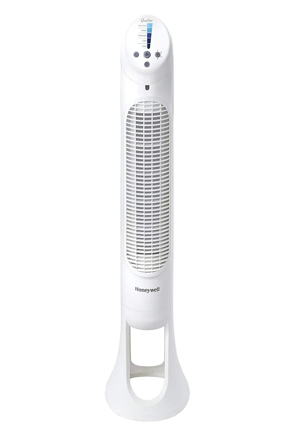 <p>Keep your room cool as can be with this <span>Honeywell Quiet Set Whole Room Tower Fan</span> ($50, originally $65).</p>