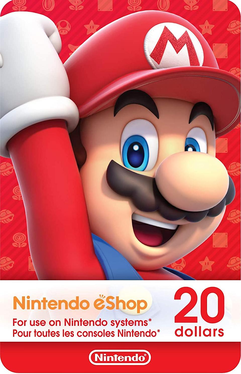 Nintendo eShop Gift Card. Image via Amazon