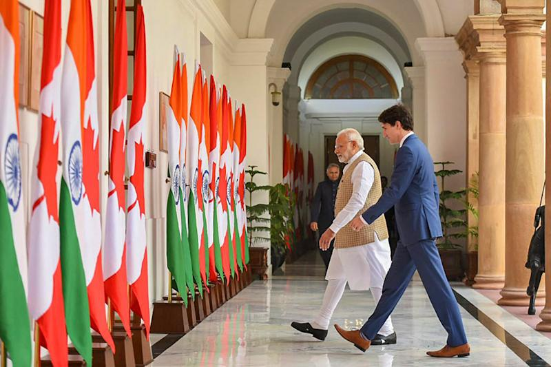 Justin Trudeau India Visit: Terrorism a Threat for Both India and Canada, Says PM Narendra Modi