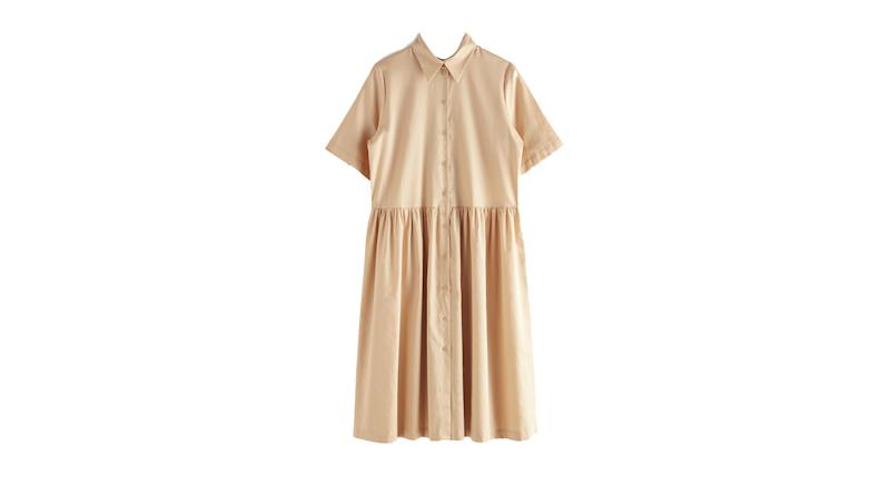 Voluminous Midi Shirt Dress