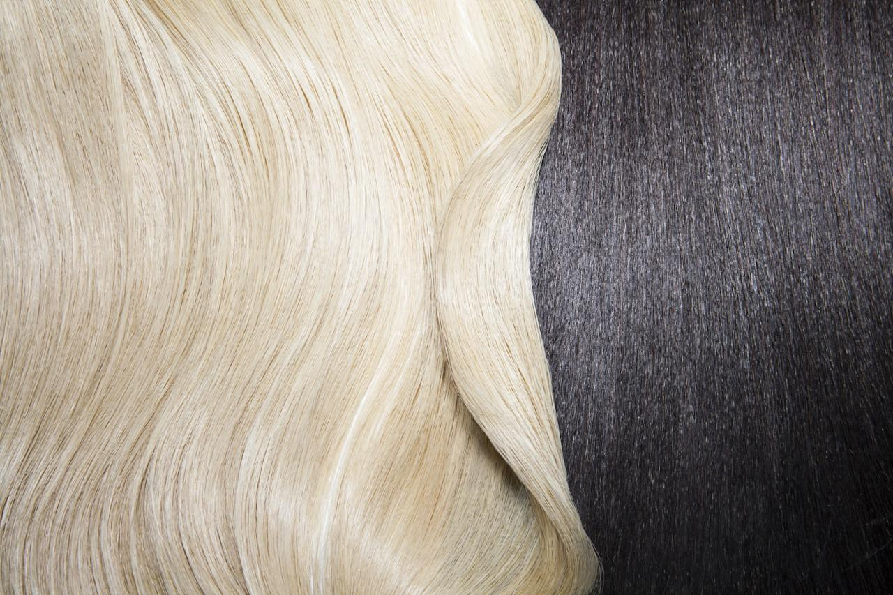 """<p>When it comes to the level system, brunettes tend to fall somewhere near level six, according to Tang, which means they would have to lift the hair at least three or four levels to achieve the blond they want. Aside from making sure you're getting your hair lightened by a professional, the safest way to go blond if you have dark hair is to approach it in phases as opposed to bleaching your hair all at once.</p> <p>""""A phased approach is best for anyone's hair,"""" Tang said. """"You can push the hair to do what you want, but that doesn't mean it will stay on your head. The safest way to go platinum blond is to gradually get lighter and lighter each salon visit.""""</p> <p>Tang also suggested using the weeks or months prior to going blond to give yourself routine protein and deep-conditioning treatments - like the <product href=""""https://www.amazon.com/mydentity-MyHero-Internal-Collagen-Reconstructor/dp/B07XDPL1ND"""" target=""""_blank"""" class=""""ga-track"""" data-ga-category=""""Related"""" data-ga-label=""""https://www.amazon.com/mydentity-MyHero-Internal-Collagen-Reconstructor/dp/B07XDPL1ND"""" data-ga-action=""""In-Line Links"""">#Mydentity #MyHero Internal Collagen Reconstructor</product> ($36) - to ensure your hair is as healthy as it can be before putting harsh chemicals in it.</p>"""