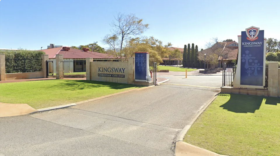 The baby was found dead in the car park of Kingsway Christian College in Perth. Source: Google Maps