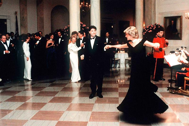 Princess Diana famously danced with actor John Travolta at a White House State Dinner at the request of Nancy Reagan. Travolta frequently speaks fondly of the moment.