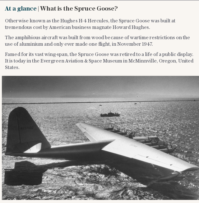 At a glance | What is the Spruce Goose?