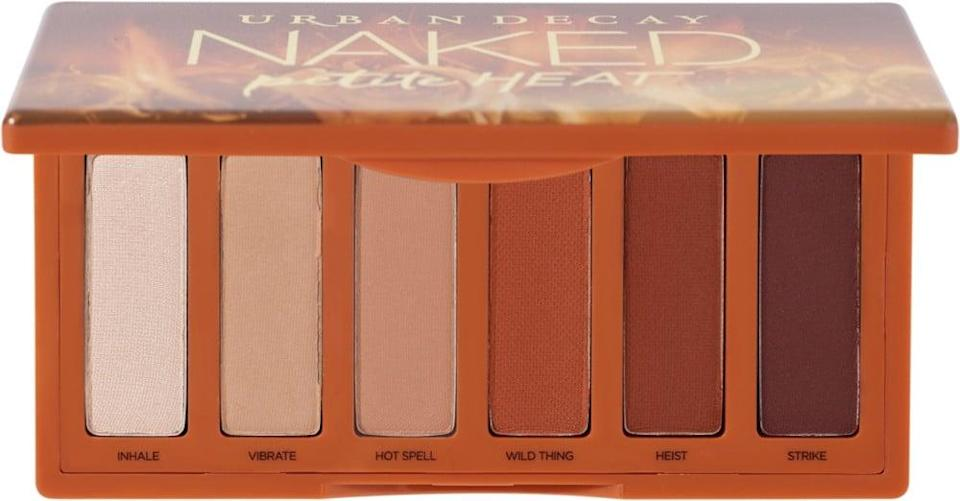 <p>The <span>Urban Decay Cosmetics Naked Petite Heat Eyeshadow Palette</span> ($29) is a great everyday warm-toned palette. It's the perfect size for travel as well!</p>