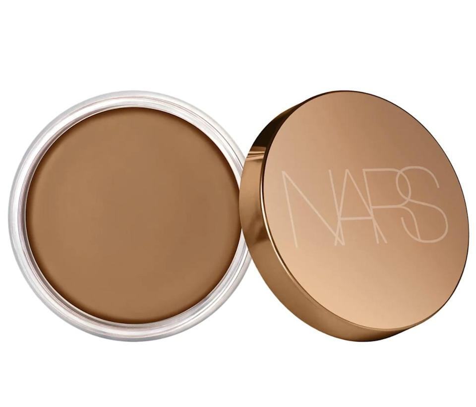 "<p>The <a href=""https://www.sephora.com/product/nars-sunkissed-bronzer-cream-P471270?icid2=products%20grid:p471270"" class=""link rapid-noclick-resp"" rel=""nofollow noopener"" target=""_blank"" data-ylk=""slk:NARS  Sunkissed Bronzer Cream"">NARS<br> Sunkissed Bronzer Cream</a> ($38) is a cream-to-powder formula that gives skin a soft-matte finish and sunkissed warmth. It glides on easily, and a little goes a long way.</p>"