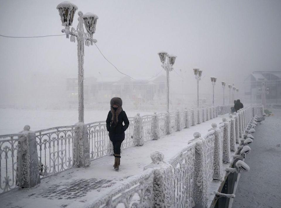 <em>Temperatures in Oymyakon, Russia, have dropped to as low as -59C, though locals said they were even lower (Picture: Rex)</em>