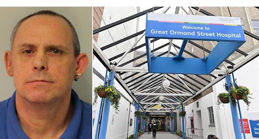 Paedophile Paul Farrell, who was a porter at Great Ormond Street Hospital,  has been jailed for life for abusing young boys. (SWNS)