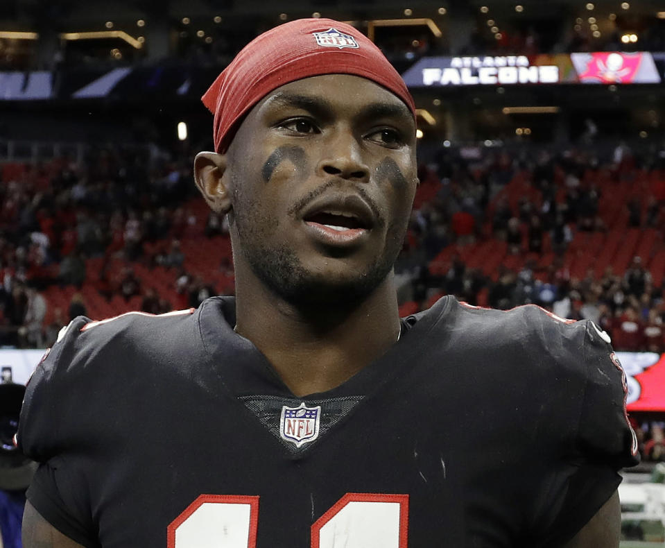 Julio Jones made enough noise in the offseason to get portions of his contract re-worked before camp started. (AP)