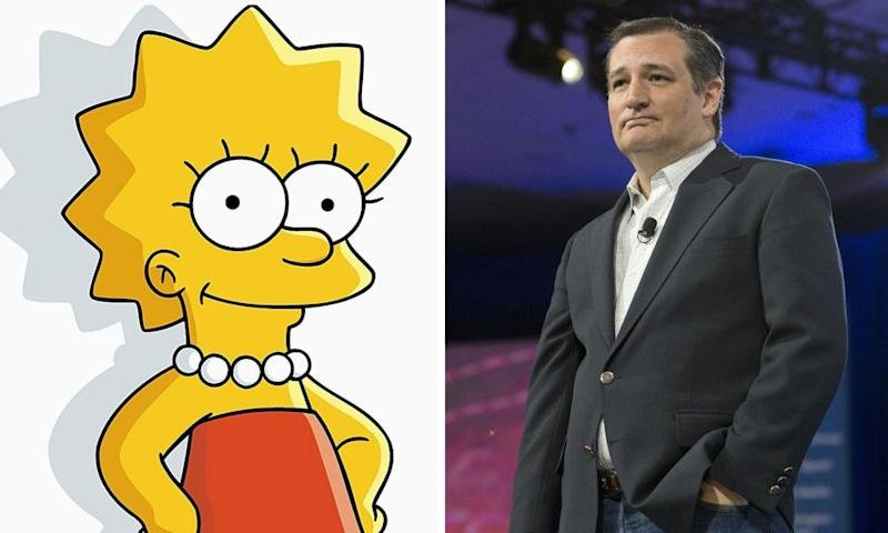 Lisa Simpson and Ted Cruz.