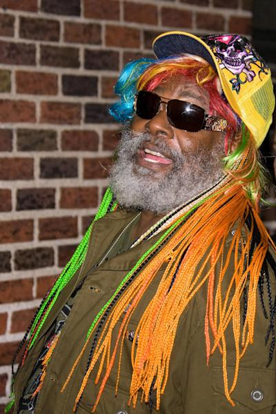 "FILE - In this Monday, Oct. 27, 2008 file photo, musician George Clinton arrives for a taping of the ""Late Show with David Letterman,"" in New York. Clinton and the Black Eyed Peas have settled a federal lawsuit in which the funk pioneer claimed the pop group used his music without proper permission. The settlement announcement on May 14, 2012, came a few weeks before the two sides were to go to trial, but after a judge limited the amount of damages Clinton would have been eligible to receive. (AP Photo/Charles Sykes, File)"