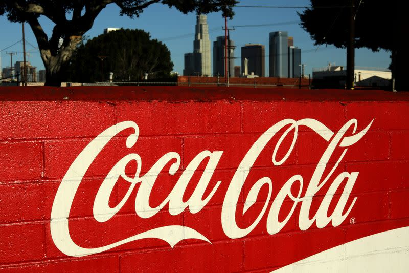 FILE PHOTO: The wall of the Coca Cola bottling plant is seen in Los Angeles