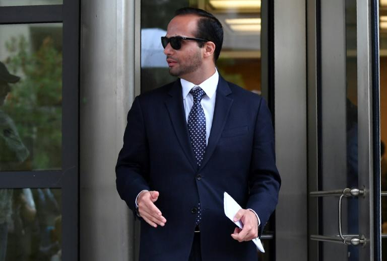 George Papadopoulos, a one-time foreign policy advisor to US President Donald Trump's election campaign, leaves the US District Court in Washington after his sentencing on September 7, 2018